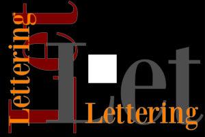 Disposizione orizzontale e verticale del Lettering.