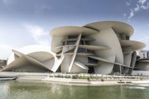 La simbologia del museo del Qatar sboccia dal deserto.