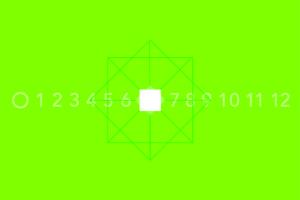 Simbologia dei numeri da zero a dodici.