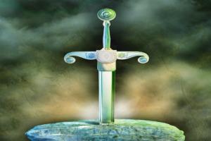 Il Simbolo quadrato sulla lama di Excalibur